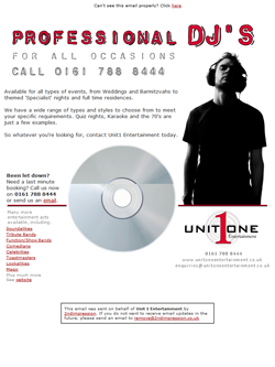 Unit One Entertainment Email