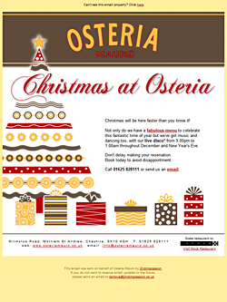 Osteria Restaurant Email